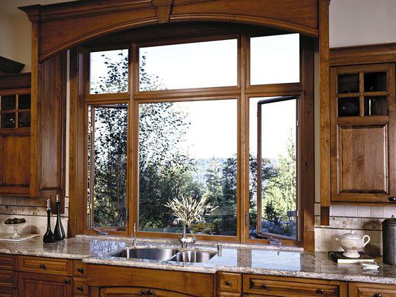 Anderson Wood Windows : Nice big windows and wood on pinterest