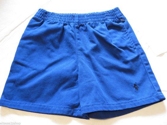 Polo Ralph Lauren Baby Boy's shorts royal blue 12M months black horse logo NEW #PoloRalphLauren #Shorts