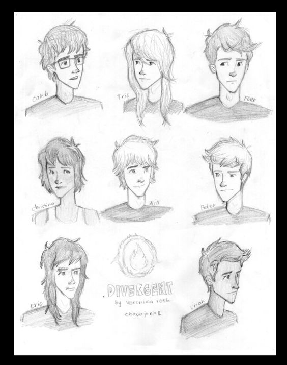 Divergent inspired fan art, Eric and Caleb look different ...