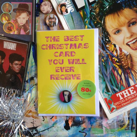 Prince Christmas Card and Badge Fantastic 80s Pop by ExChildGenius