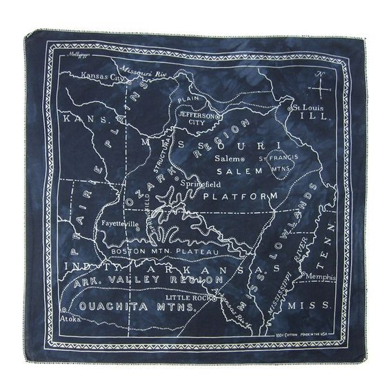 Ozark Region Bandana Antique Black: