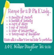 Recipe for a D.Phi.E. Lady