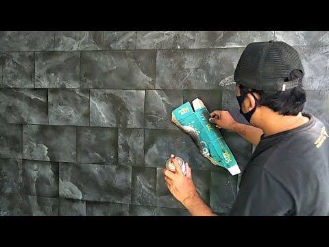 Tehnik Membuat Cat Motif Batu Alam Warna Hitam Diy Wall Painting Effect Youtube In 2021 Diy Wall Painting Cat Motif Batu Alam