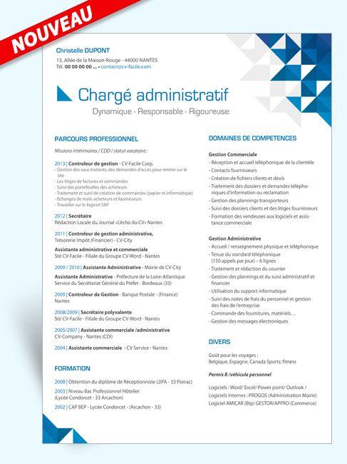 Exemple Modele Cv Charge Administratif Modele Cv Cv Assistante Commerciale Exemple Cv