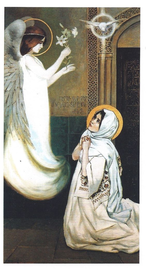 Behold thy Mother and Holy Queen!  Vardges Surenyants, Annunciation, date unknown.: