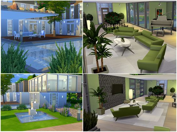 the sims resource: modern living residential housefaryngal | the