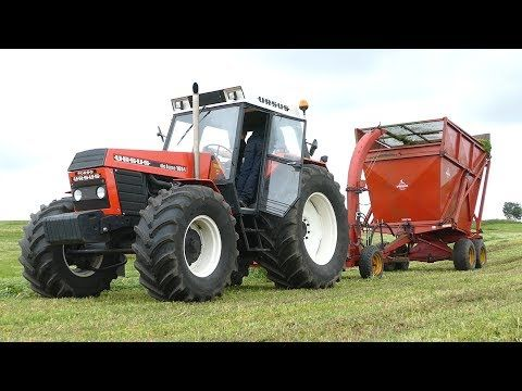 Ursus 1614 Turbo Deluxe Making Grass Silage W Taarup 605 Forage Harvester Danish Agriculture Youtube Ursus Tractors Agriculture