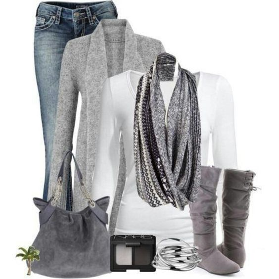 Grey!! Always a cozy color to wear: