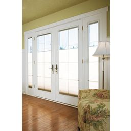 Designer series in swing door clad exterior french for Single swing french doors