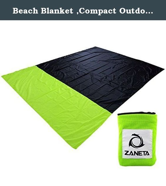 Beach Blanket ,Compact Outdoor Picnic mat - Lightweight,Quick-drying,Puncture Resistant - Made From Strong Ripstop Parachute Nylon - Extra Large [7x 5 feet] & Easy to Carry. DO you want your beach blanket practical small enough to have it around all the time and just put it to your bag, car or anywhere handy ? DO you going for a walk/hike and need to sit down? And went to see sunset and do not want to sit on the ground? Do you love going to the beach but hate the sand on your towel…