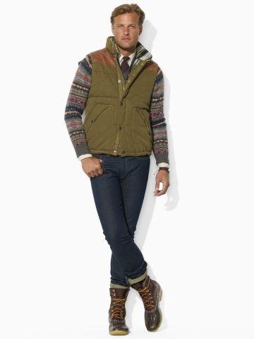 French Terry Hooded Vest - Polo Ralph Lauren Cloth - RalphLauren.com