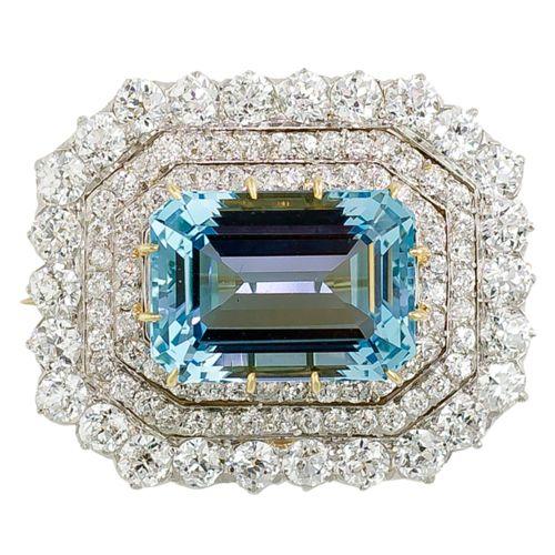 Aquamarine Brooch    Tiffany & Co., 1890s