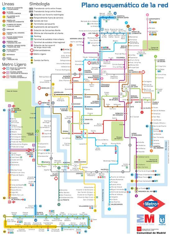 Mapa metro Madrid  Lneas hasta el infinito  Pinterest  Madrid