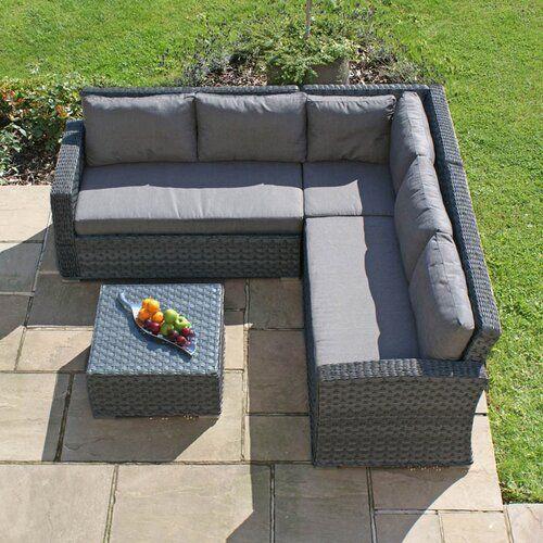 Blaisdell 5 Seater Rattan Sofa Set Sol 72 Outdoor Rattan Corner Sofa Furniture Sofa Set Rattan Garden Furniture