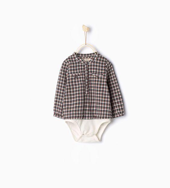 Body chemise à carreaux
