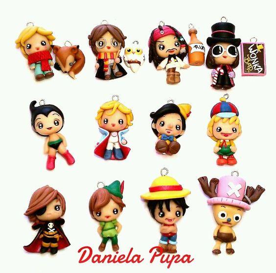 Miniature polymer clay movie characters - kawaii ...