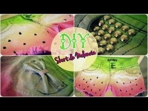 DIY Wassermelonen-Schleifen Shorts! - YouTube