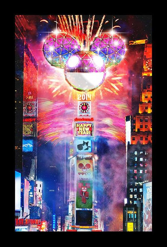 New York Times Square. New Year's Eve 2014