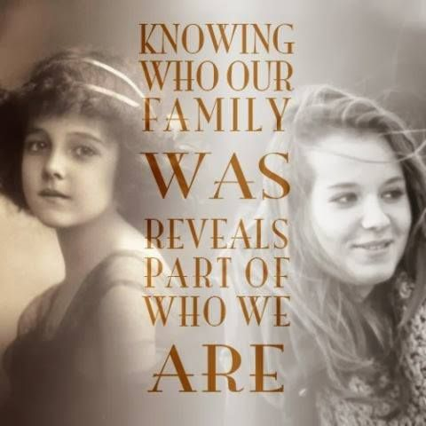 Knowing who our family was reveals part of who we are.