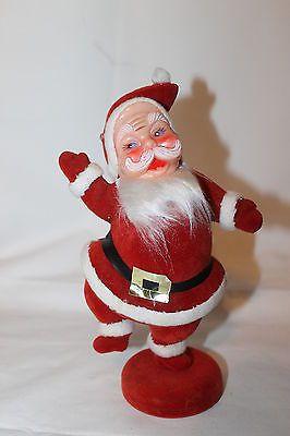 VINTAGE+VELVET+COVERED+SANTA+CHRISTMAS+DISPLAY+PLASTIC+FACE+DECORATION....got one!