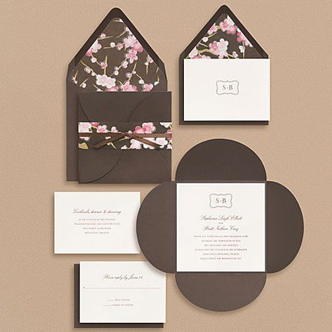 Cherry blossoms flowers wedding invitation 5 x 7 invitation card cherry blossoms flowers wedding invitation 5 x 7 invitation card japanese wedding ideas pinterest cherry blossoms flower and weddings stopboris Images