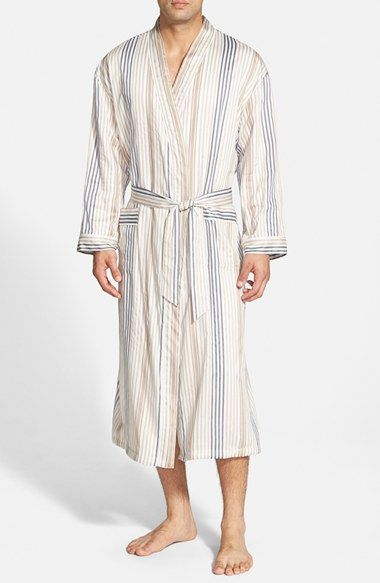 Men's Majestic International Terrycloth Lined Robe - White