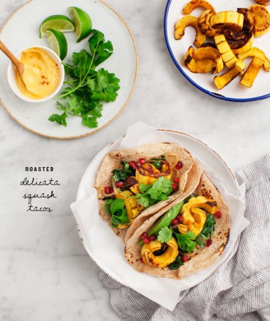 Roasted Delicata Squash Tacos Recipe