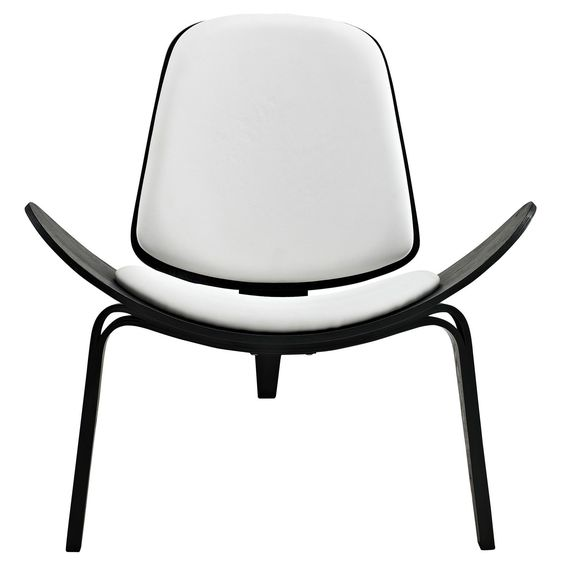 Arch Lounge Chair, Black and White