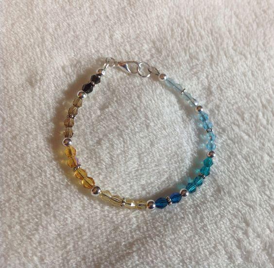 Sand and sea czech beaded bracelet