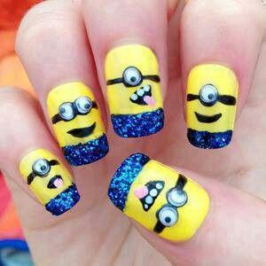 Minion nails. So cute!
