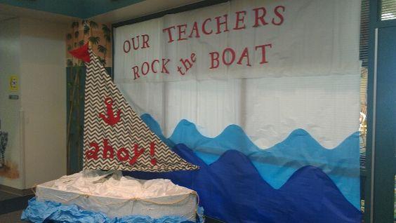 Nautical Theme Quot Our Teachers Rock The Boat Quot Teacher