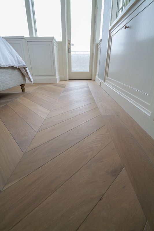 Whitehall Prefinished Engineered White Oak With Hardwax Oil Finish Private R White Oak Floors Herringbone Wood Floor White Oak Hardwood Floors