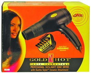 Gold N Hot Gold N Hot Dryer Ion Ceramic Gh2240 Ionic Hair Dryer Beauty Supply Gold N