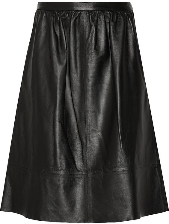 Theory Leather A-line skirt auf shopstyle.de