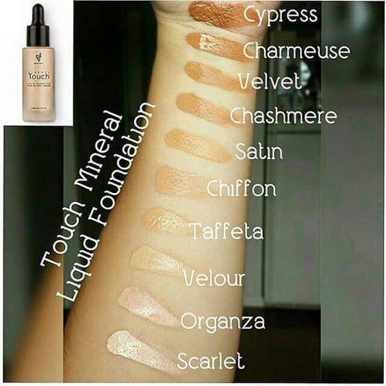 The famous Younique Liquid Touch Foundation is available in ten shades. It goes on like a liquid and dries to a powder finish.