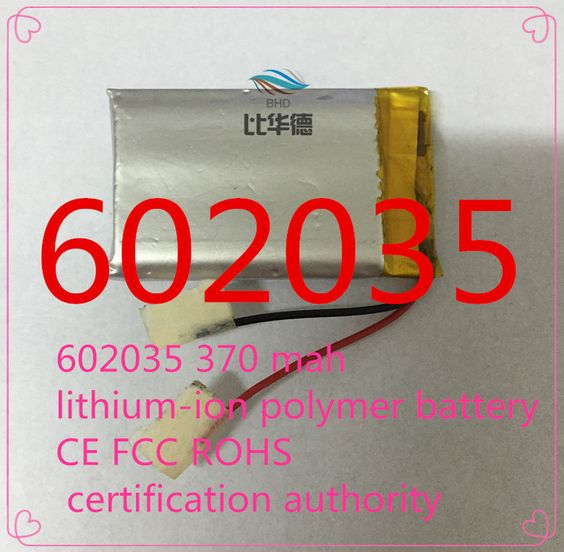 $5.60 (Buy here: http://appdeal.ru/43px ) (free shipping)602035 370 mah lithium-ion polymer battery CE FCC ROHS certification authority for just $5.60