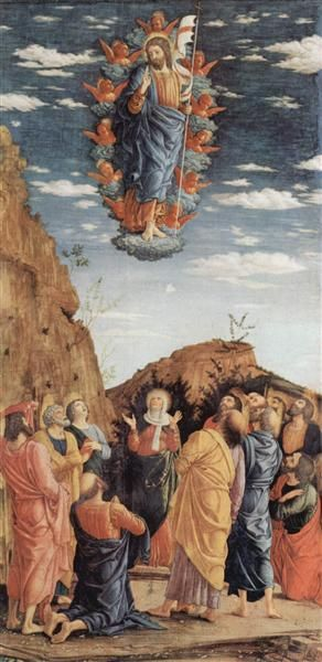 Ascension of Jesus, el panel de la izquierda del Altarpiece, by Andrea Mantegna,  1461
