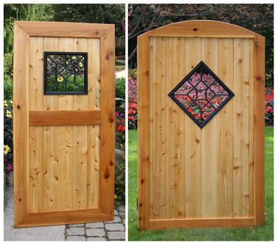 Aluminum cast black square diamond wooden gate decorative insert 15 h x 15 w maybe something - Decorative wooden fences ...