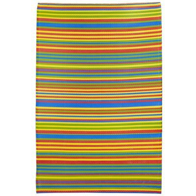 Bright Multi Stripe Outdoor Rug Pier 1 clearance sale