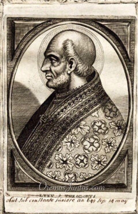 Papa Teodoro I, (grabado de 1678)