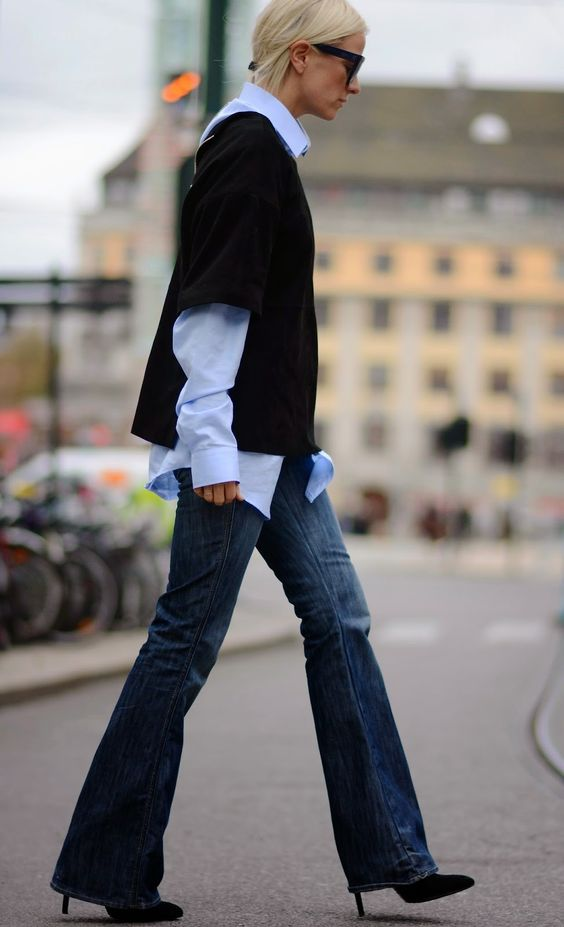 VINTAGE FLARED DENIM: