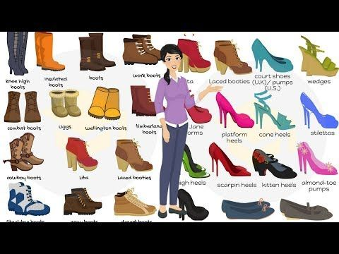 893shares Learn Different Types Of Shoes In English Through Pictures Shoe Is An Item Of Footwear Inte Types Of Shoes Learn English For Free English Vocabulary