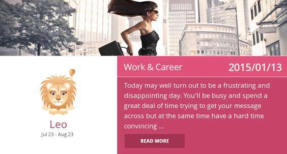 Leo work & career horoscope for 2015/01/13. Is it accurate? Pin=Yes | Favorite=No