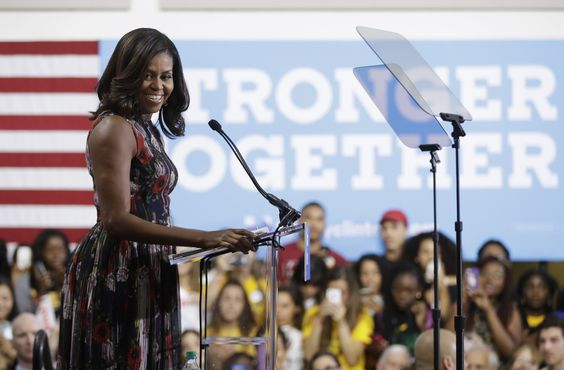 Stepping deeper into the political fray, Michelle Obama on Friday warned young…