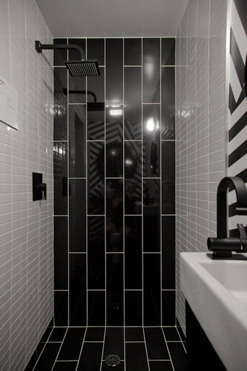 75 Bathroom Ideas Black Tiles Bathroom Shower Design Black Tile