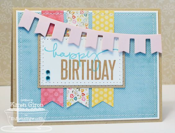 Birthday Sentiments stamps from My Favorite Things