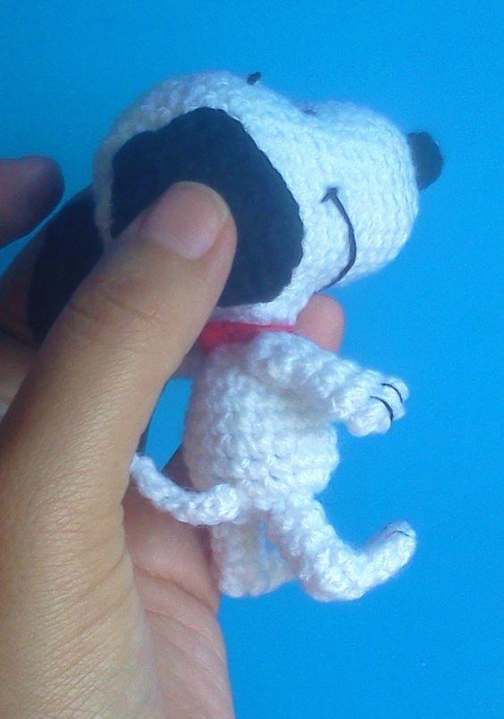 Amigurumis: Patrón gratis ... Snoopy amigurumi                                                                                                                                                      Más