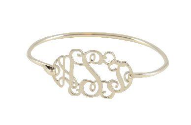 Monogrammed Sterling Bracelet