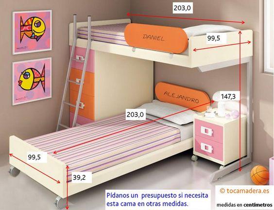Literas cruzadas ideas pinterest - Medidas camas abatibles ...