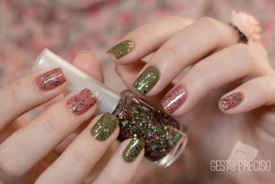 Watermelon Shake, by Dany Vianna #nails #glitter #indiepolish